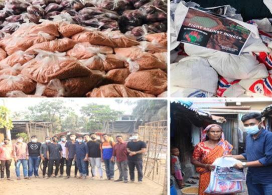 'উই ফর চেঞ্জিং বাংলাদেশ'র উদ্যোগে ত্রাণসামগ্রী বিতরণ